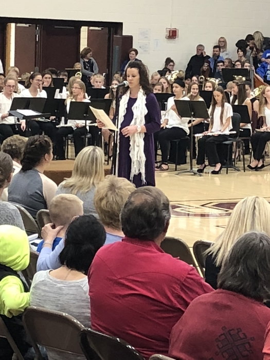 Mrs. Riener, KMEA Band District Chair